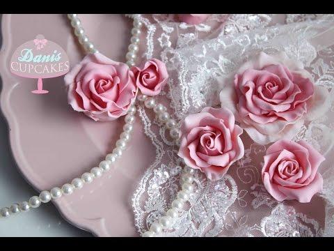Zucker Rosen aus Blütenpaste Gum Paste Roses | Danis Cupcakes