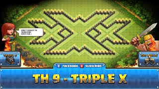 getlinkyoutube.com-★ Clash of Clans Troll Base ★ TH9 - Triple X Farming, Dark Elixir