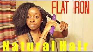 getlinkyoutube.com-Flat Iron On NATURAL HAIR