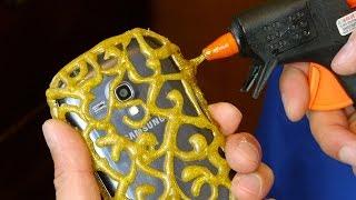 getlinkyoutube.com-DIY PHONE CASE  Life Hacks - Hot Glue Craft