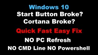 getlinkyoutube.com-Quick Fix Windows 10 Start Menu Button Broke Problem!