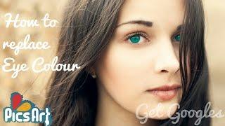 getlinkyoutube.com-PicsArt: How to replace Eye Colour