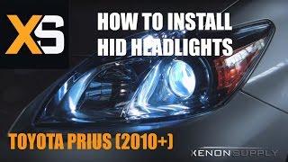 getlinkyoutube.com-Toyota Prius HID - How to Install HID Xenon 2009+