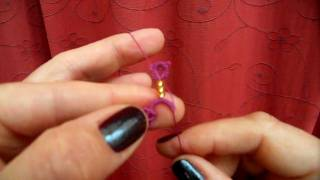 getlinkyoutube.com-Tatting - The Loop-Tatted Ring