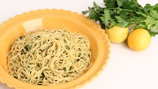 getlinkyoutube.com-Lemon & Herb Spaghetti Recipe - Laura Vitale - Laura in the Kitchen Episode 912