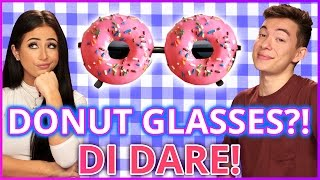 DIY DONUT SUNGLASSES?! Di-Dare w/ Amber Scholl & Motoki Maxted