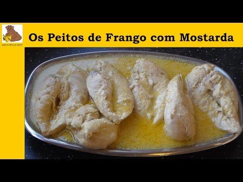 receita de peitos de frango com mostarda (receita fácil é rapida) HD