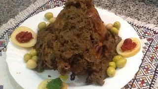 الدجاج المحمر المغربي  بالدغميرة على طريقة الاعراس بتوضيح و شرح مفصل مع ربيعة
