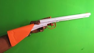 getlinkyoutube.com-How to Make a Paper Double Barrel shotgun that shoots Rubber Band - Easy Tutorial