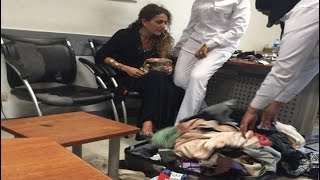 getlinkyoutube.com-حقيقة السيدة المعتدية على ضابط المطار بالدليل