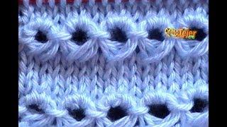 Cómo Tejer Punto Peruano-Broomstick Loop Stitch 2 Agujas (120)