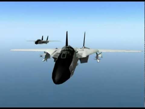 US F-14 Tomcats VS Libyan Mig-23 Floggers -yyORtaFCa3I