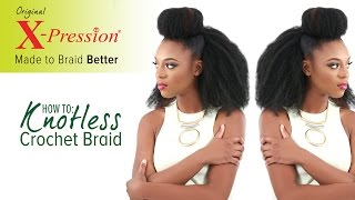 getlinkyoutube.com-How to Knotless Crochet Braid (Invisible Knot Method) | X-Pression Cuevana Twist