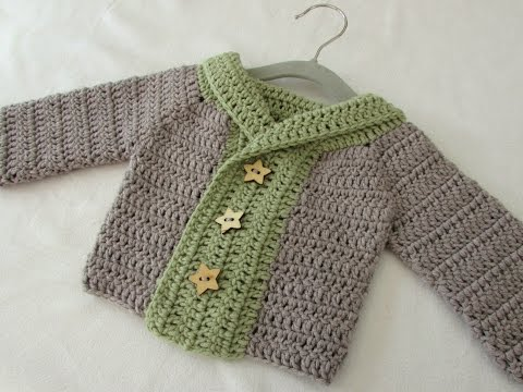 How to crochet a baby / children's chunky winter sweater