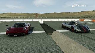 Pagani Zonda Cinque Roadster VS Pagani Huayra Drag Race | Forza 6