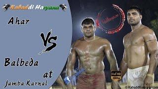 Ahar Vs Balbeda Final Match At Jamba Karnal
