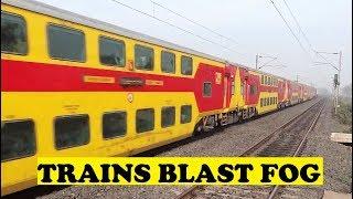 Top-Tier AC Trains Blasting Morning Winter Fog