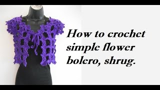 getlinkyoutube.com-how to crochet easy flower bolero chaleco for beginners free pattern tutorial
