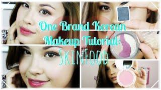 getlinkyoutube.com-One Brand Korean Makeup Tutorial ♥ SkinFood Plus Mini Reviews!
