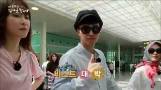getlinkyoutube.com-BEAST 비스트 Yoon Doojoon and Yang Yoseob meeting fans on Barcelona Airport
