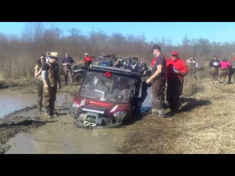 SXS stuck at Mardi Gras River Run ATV park