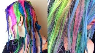 getlinkyoutube.com-✮Rainbow Candy Floss Hair Tutorial✮