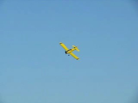 Air Tractor 401 Cropduster Low Level Flying And Wing Over.