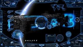 getlinkyoutube.com-Futuristic Skin Neon Space Hologram CIA Tutorial Rainmeter Skin Windows Customization Themes