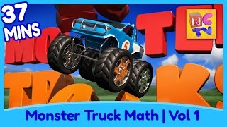 getlinkyoutube.com-Learn Math and Counting Monster Trucks for Kids | Compilation Vol 1