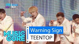 [HOT] TEENTOP - Warning Sign, 틴탑 - 사각지대, Show Music core 20160130
