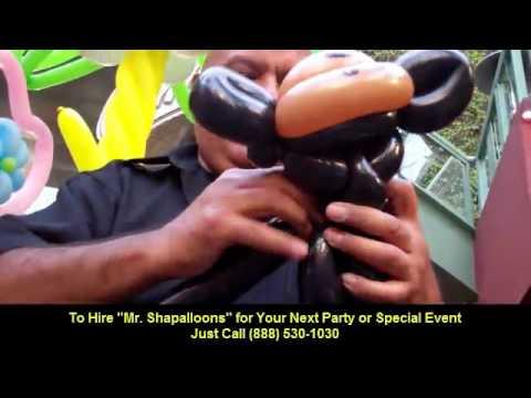 "Monkey Balloon Animals By ""Mr.Shapalloons"" Balloon Artist in Los Angeles"