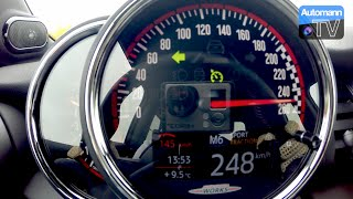 2016 MINI JCW (Pro Exhaust) - Launch Control 0-248 km/h (60FPS)