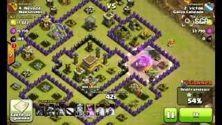 getlinkyoutube.com-Clash of clans TH8 Compilation #1 Defense War Base ANTI AIR, ANTI HOG + Clip