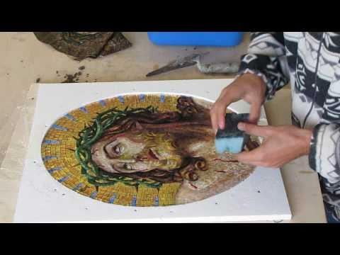How an artistic mosaic is made-Realizzazione di un mosaico artistico