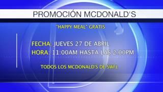 Gaby Romero nos habla de una promoción en McDonalds en el Suroeste de Florida