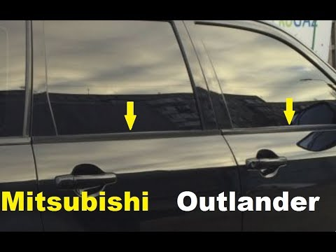 Как снять молдинг окна Митсубиси Аутландер /  Mitsubishi Outlander  fixed