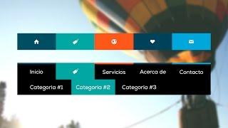 getlinkyoutube.com-Como hacer un menú de navegación desplegable con Animaciones CSS3