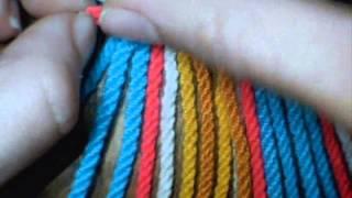getlinkyoutube.com-Como hacer tira, gasa, fajon wayuu 24 cordones