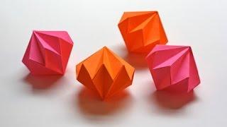 getlinkyoutube.com-Easy and rich - Origami diamond ornaments. Christmas decoration. Ideas for Christmas
