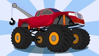 getlinkyoutube.com-☺ Tow Truck - Monster Truck and repair | For Children Part 1 ☺