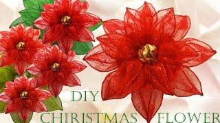 getlinkyoutube.com-Haz fácil lindas flores y decoraciones para navidad