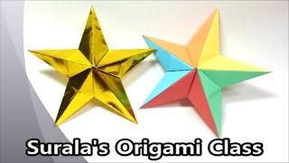 getlinkyoutube.com-Origami - Star (for Christmas Trees) / 종이접기 - 별 (크리스마스 트리 장식)