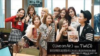 getlinkyoutube.com-Live on Air with TWICE, 라이브 온에어 with 트와이스 [정오의 희망곡 김신영입니다] 20151112