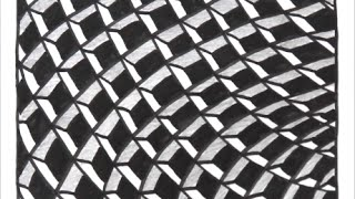 getlinkyoutube.com-[だれでも描ける!線画アート] 立体的な絵の描き方[ゼンタングル]  How to draw zentangle
