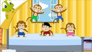 getlinkyoutube.com-Five little monkeys nursery rhyme