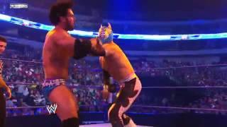 getlinkyoutube.com-Friday Night  SmackDown Justin Gabriel vs. Sin Cara (Negro)