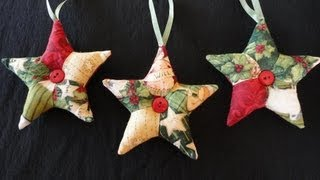 getlinkyoutube.com-Patchwork Star Ornaments