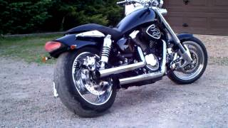 getlinkyoutube.com-Kawasaki Mean Streak 1600 Custom sound