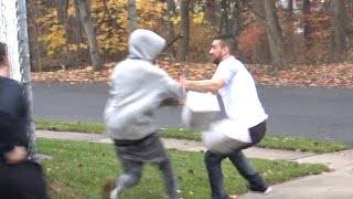 getlinkyoutube.com-Bait Package Prank GONE WRONG (Social Experiment) - Funny Hood Pranks