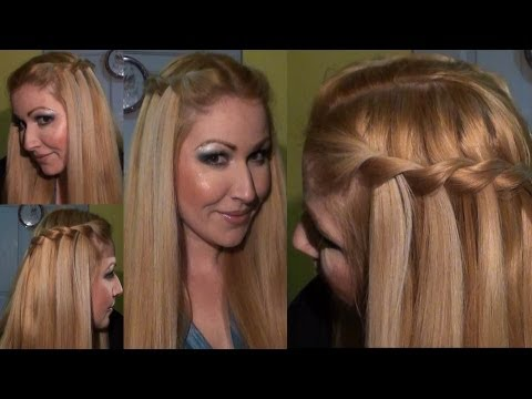 PEINADO trenza de cascada WATERFALL twist braid Hairstyle hair